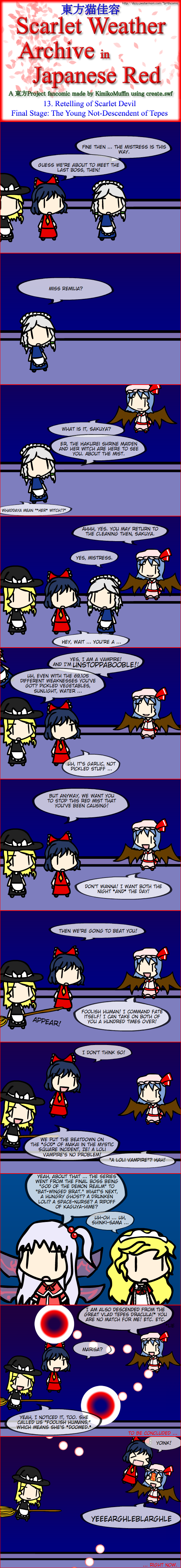 Touhou Nekokayou: Scarlet Weather Archive in Japanese Red #13