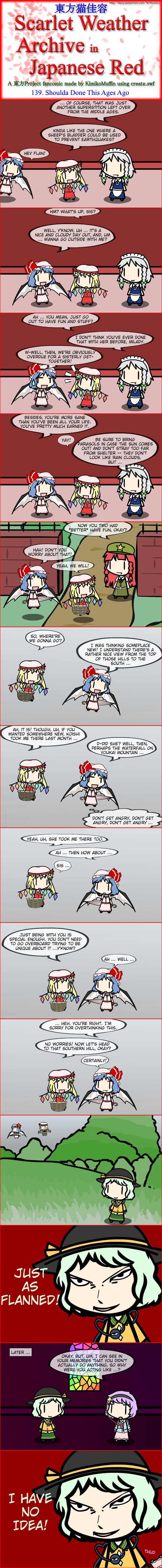 Touhou Nekokayou: Scarlet Weather Archive in Japanese Red #139