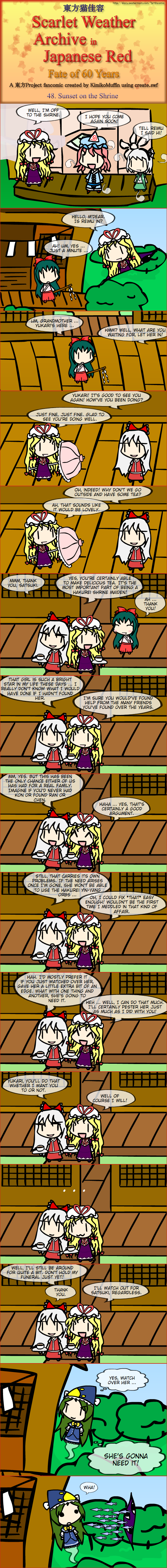 Touhou Nekokayou: Scarlet Weather Archive in Japanese Red #48
