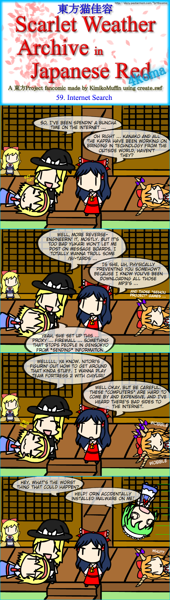 Touhou Nekokayou: Scarlet Weather Archive in Japanese Red #59