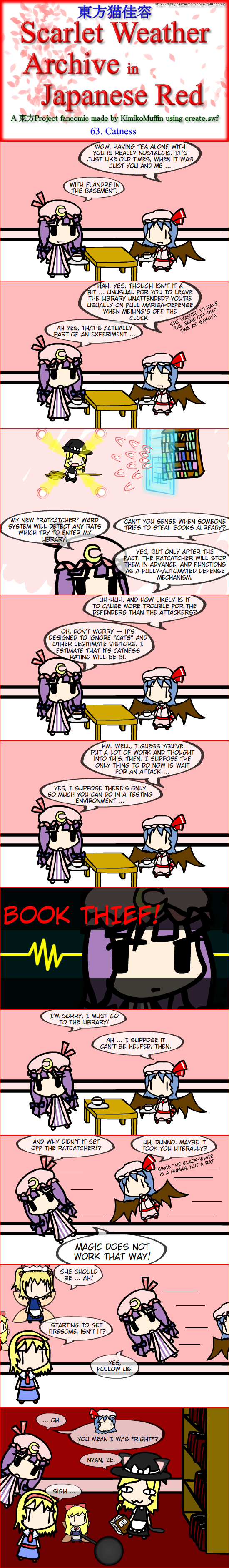 Touhou Nekokayou: Scarlet Weather Archive in Japanese Red #63